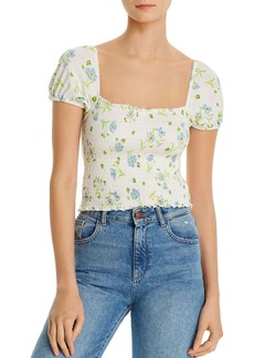 FRENCH CONNECTION Shanti Meadow Jersey Smocked Tee