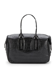 French Connection She's A Lady Alligator-Embossed Satchel