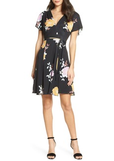 French Connection Shikoku Floral Faux Wrap Dress