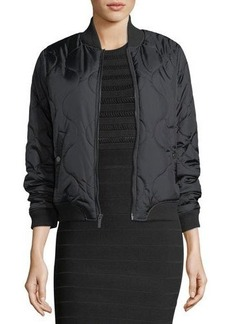 French Connection Short Swirl Bomber Jacket