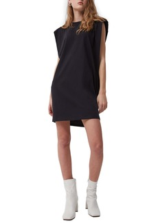 French Connection Shoulder Pad Sleeveless Cotton Knit Dress