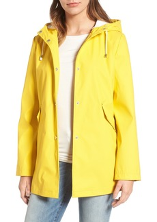 French Connection Side Zip Hem Hooded Slicker
