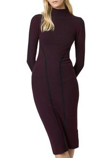 French Connection Simona Long Sleeve Rib Sweater Dress
