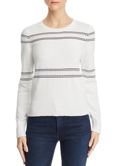 FRENCH CONNECTION Skye Cotton Contrast-Trim Sweater
