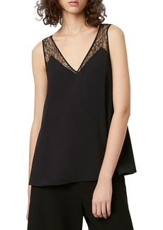 French Connection Sleeveless Crepe Top