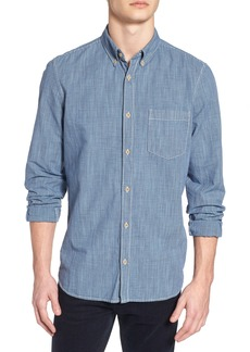 French Connection Slim Fit Check Cotton & Linen Sport Shirt