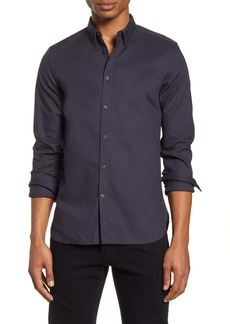 French Connection Slim Fit Dobby Button-Up Shirt