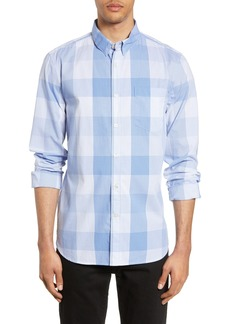 French Connection Slim Fit Pinstripe Check Shirt