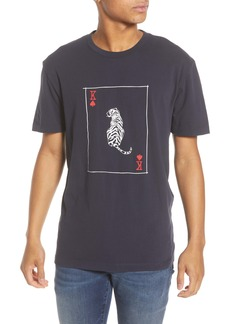 French Connection Slim Fit Tiger Playing Card Graphic T-Shirt