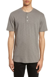 French Connection Slubbed Short Sleeve Henley