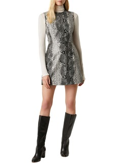 French Connection Snake Print Sleeveless Minidress