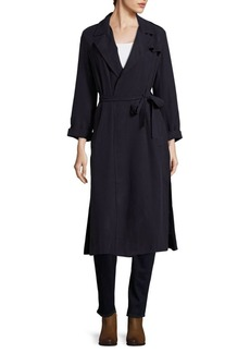 French Connection Solid Draped Coat