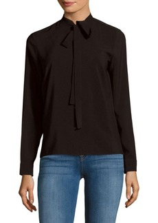 French Connection Solid Long-Sleeve Top