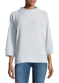 French Connection Solid Ribbed Pullover
