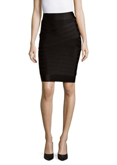 French Connection Spotlight Striped Pencil Skirt