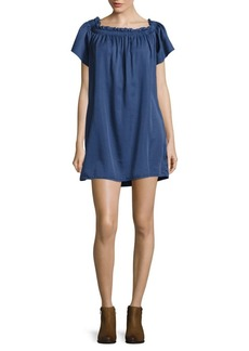 French Connection Stayton Ruffled Cotton Dress