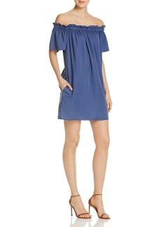 FRENCH CONNECTION Stayton Ruffled Off-the-Shoulder Dress