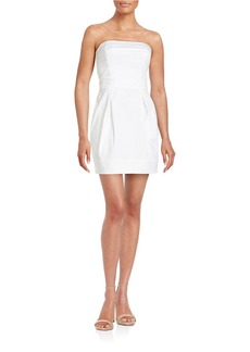 FRENCH CONNECTION Strapless Cotton-Blend Dress