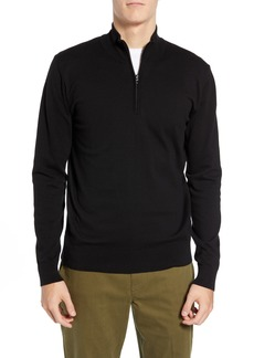 French Connection Stretch Cotton Quarter Zip Sweater
