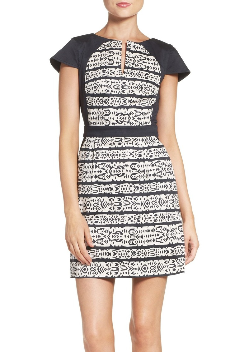 French Connection Stretch Cotton Sheath Dress