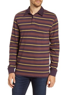 French Connection Stripe Long Sleeve Polo