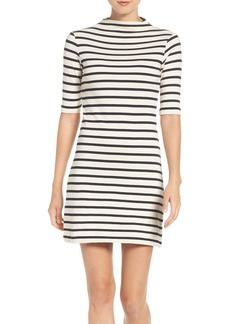 French Connection Stripe Terry Shift Dress