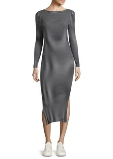 Striped Cotton Bodycon Dress