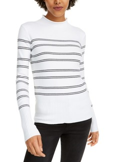 French Connection Striped Mock-Neck Sweater