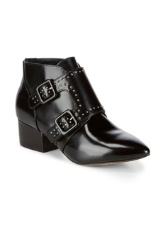 French Connection Studded Leather Ankle Boots