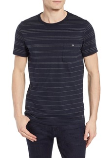 French Connection Summer Graded Stripe Pocket T-Shirt