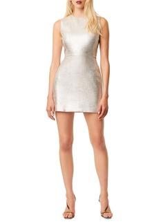 French Connection Sundae Metallic Whisper Cotton Sheath Dress