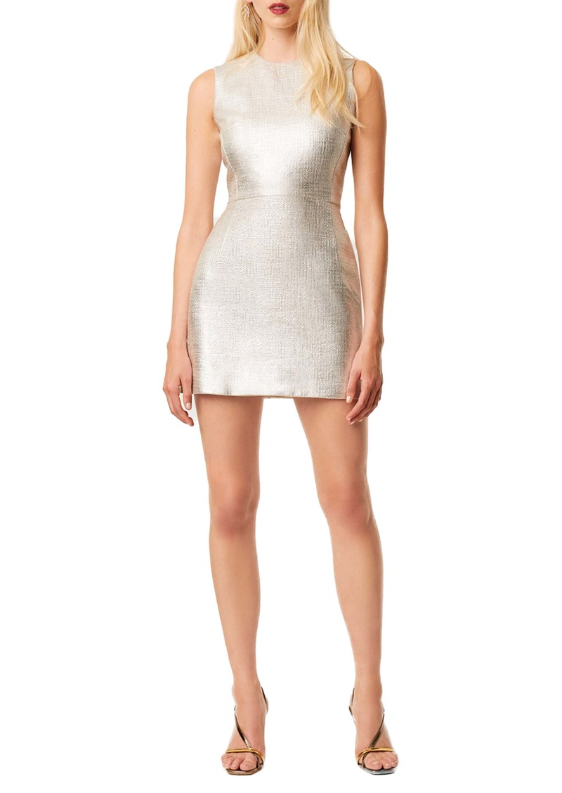 French Connection Sundae Metallic Whisper Cotton Sheath Dress