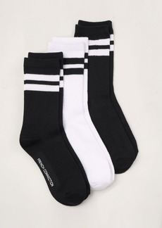 French Connection Super Soft Crew Sock, 3 pack