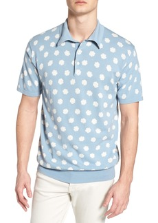 French Connection Superfine Hibiscus Slim Fit Polo
