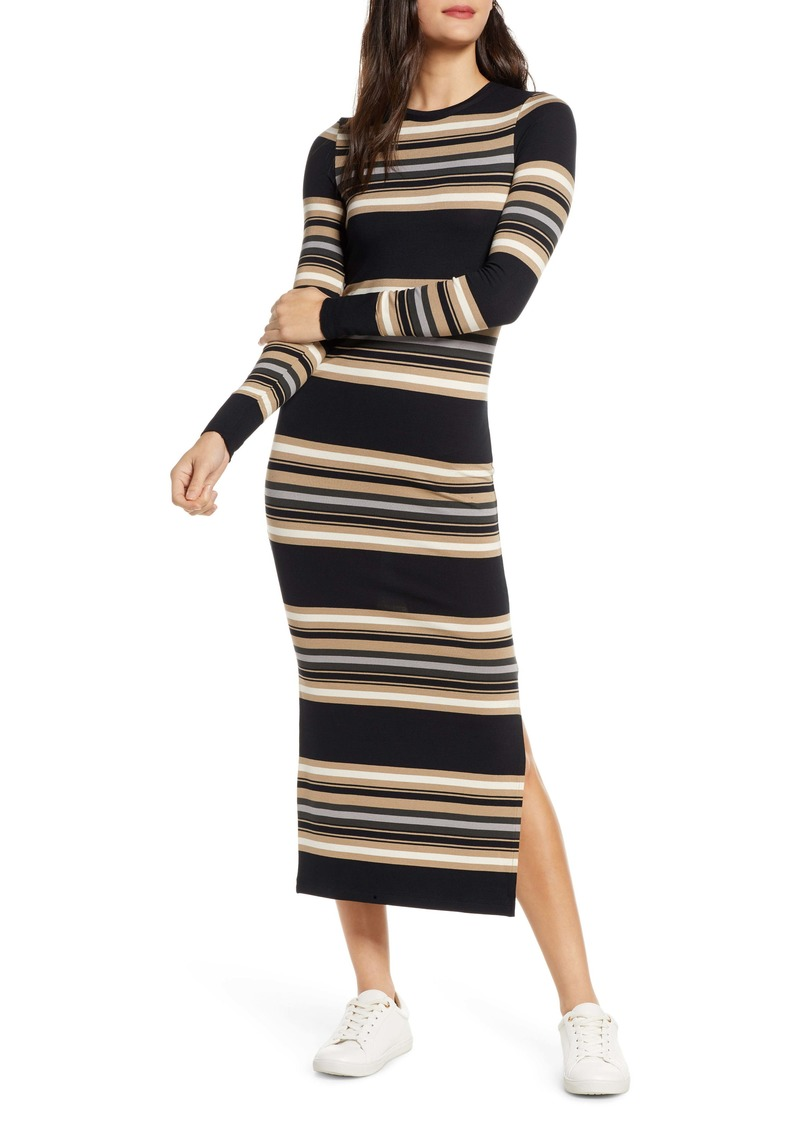 French Connection Sweet Stripe Long Sleeve Sweater Dress