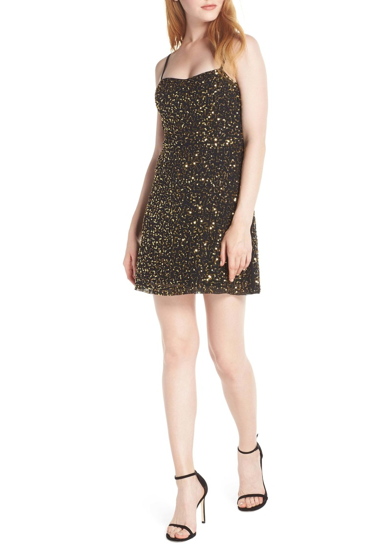 French Connection Sweetheart Sequin Dress