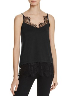 FRENCH CONNECTION Swift Drape Lace-Trimmed Camisole Top