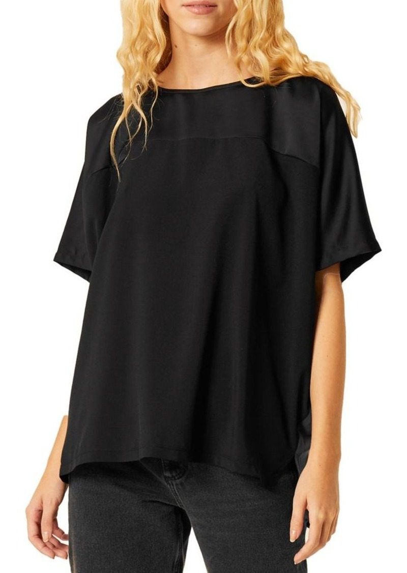 French Connection Tanja Crepe Satin Top