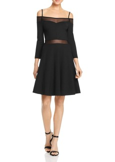FRENCH CONNECTION Tatlin Beau Cold-Shoulder Dress