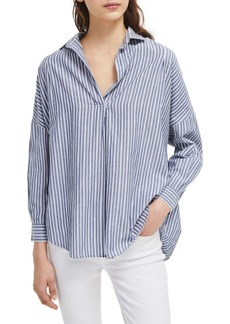 French Connection Tatus Oversized Stripe Cotton Shirt