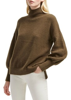 French Connection Textured Balloon-Sleeve Sweater