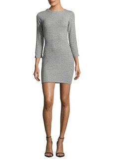 French Connection Textured Three-Quarter Sleeves Dress