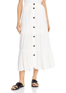FRENCH CONNECTION Tiered Button-Through Skirt - 100% Exclusive