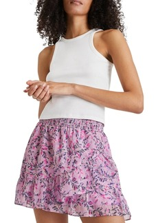 French Connection Tiered Ruffled Floral Skirt