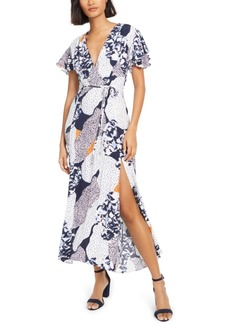 French Connection Tiered-Sleeve Maxi Dress