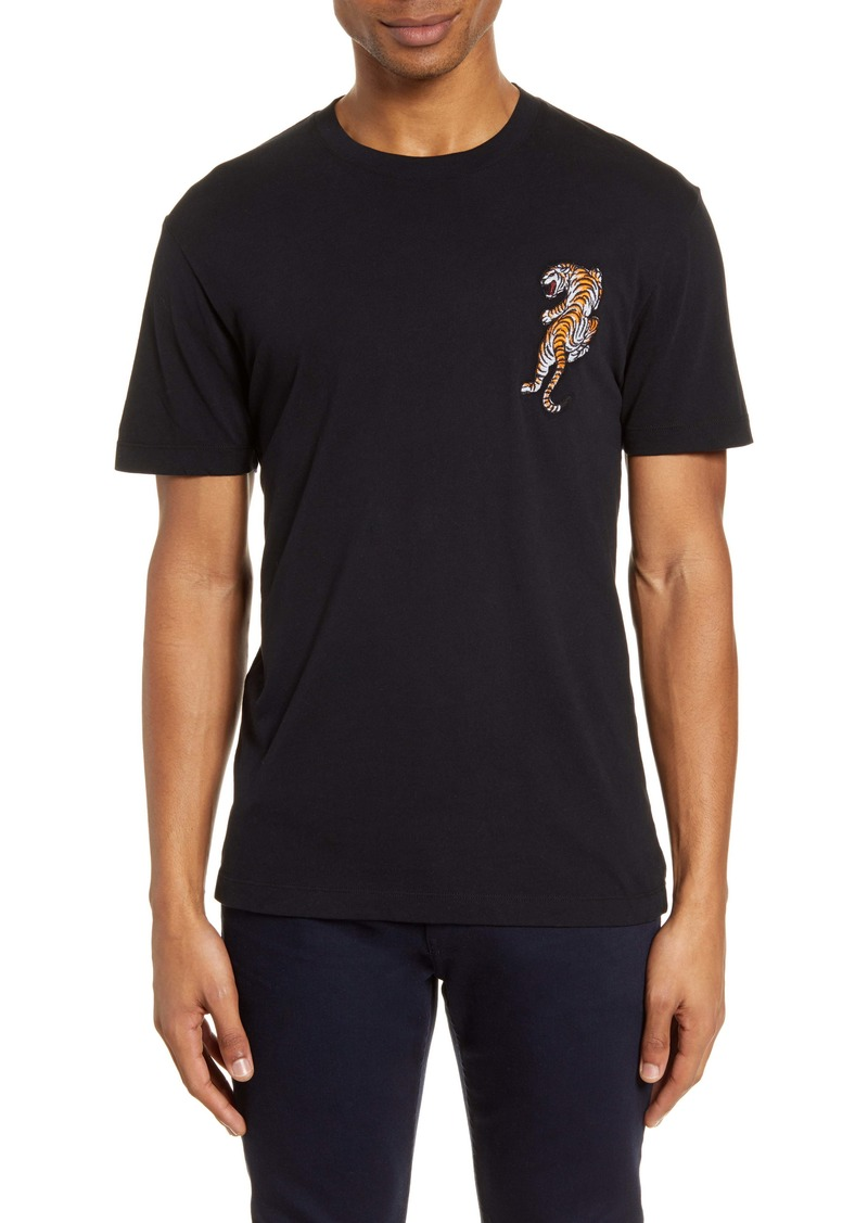 French Connection Tiger Appliqué T-Shirt