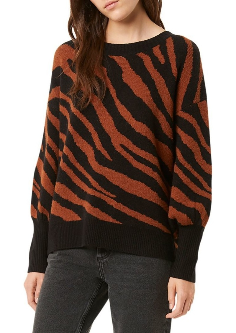 French Connection Tiger-Print Crewneck Sweater