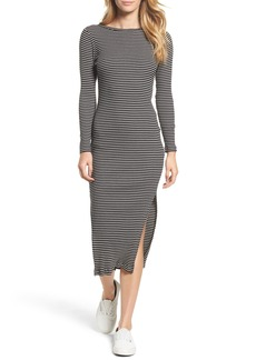 French Connection Tim Tim Ribbed Stripe Midi Dress