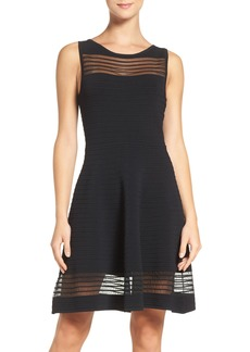 French Connection Tobey Crepe Fit & Flare Dress