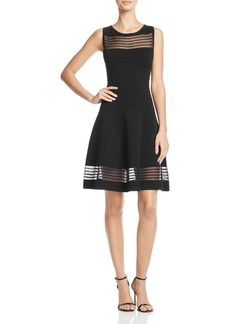 FRENCH CONNECTION Tobey Mesh-Inset Dress